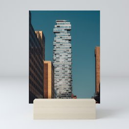 56 Leonard street and modern skyscrapers in Financial District Mini Art Print