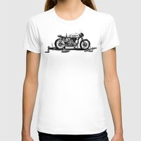 cafe racer T-shirts featuring Beer Savage Vintage Norton Cafe Racer by TCORNELIUS