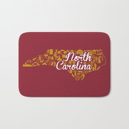 Elon University North Carolina State - Maroon and Gold University Design Bath Mat