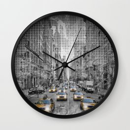 Graphic Art NEW YORK CITY 5th Avenue Traffic Wall Clock