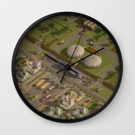 Biogas City Wall Clock