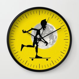 Friendly Zombie On The Go - Longboard Wall Clock