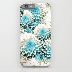 Damask Pattern Azure iPhone 6s Slim Case