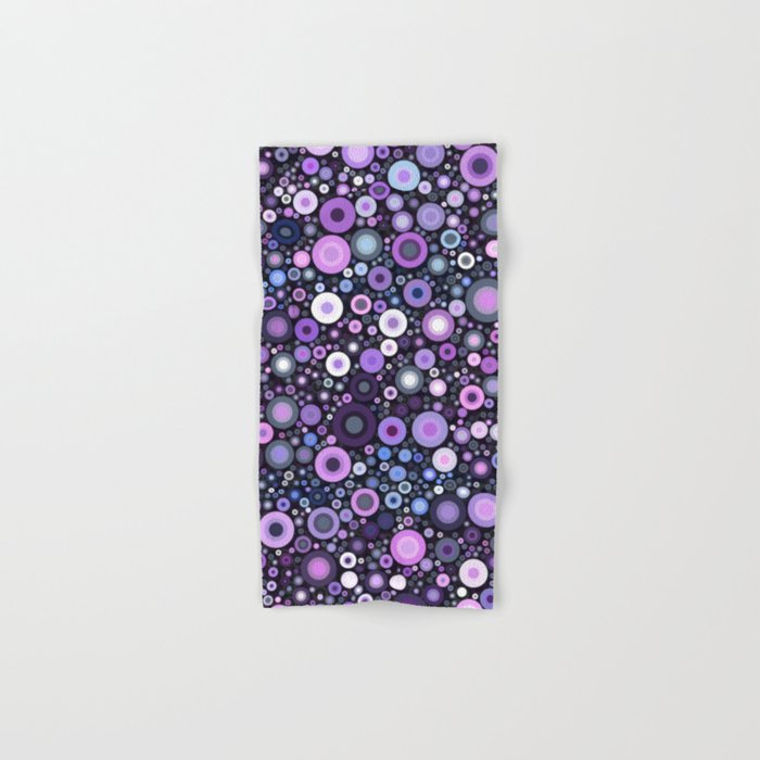 Lavender Bubbles at Midnight Hand & Bath Towel