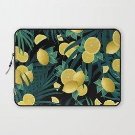 Summer Lemon Twist Jungle Night #1 #tropical #decor #art #society6 Laptop Sleeve