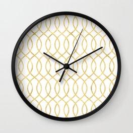 Gold Hourglass Wall Clock