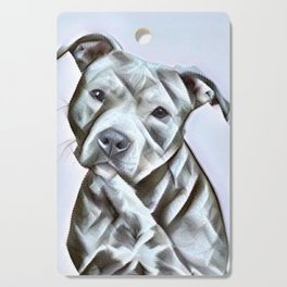 Pit Bull lover , portrait of a blue nose pit bull Cutting Board