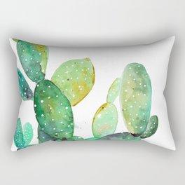 Cactus Watercolor art Rectangular Pillow