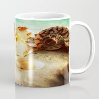 shell Mugs featuring Shell by brushnpaper