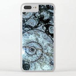 Goniatite Ammonite Clear iPhone Case