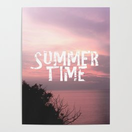 Summer Time - Sunset On The Sea Poster