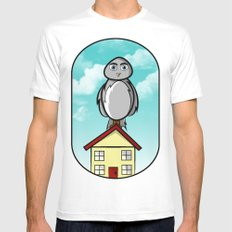 Owl Mens Fitted Tee White MEDIUM