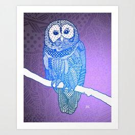 Zentangle Owl (V2) Art Print