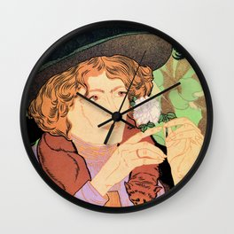 Art Nouveau Expo Salon des Cent Paris Wall Clock