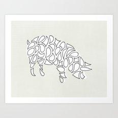 Farm Pig Art Print