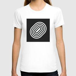 Stripey pill shape T-shirt