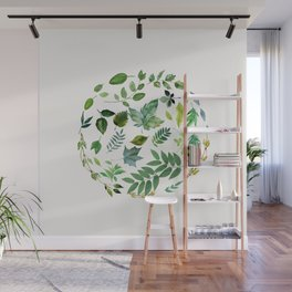 Circle of Leaves Wall Mural