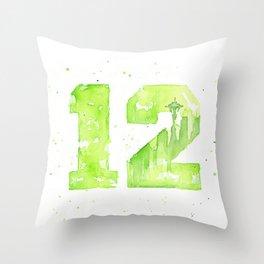 12th Man Seattle Art Throw Pillow