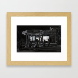 Twin Peaks - The Convenience Store Framed Art Print