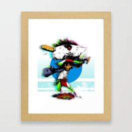 Anvil man and his baseball bat Framed Art Print