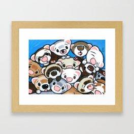 16 Ferrets Framed Art Print