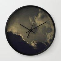 kansas Wall Clocks featuring Over Kansas by josemanuelerre