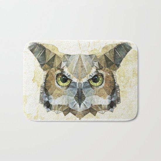 abstract owl Bath Mat