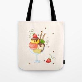 strawberry ice cream Tote Bag