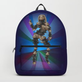 Sexy pump 3. On multicolored background (Predominance of violet) Backpack