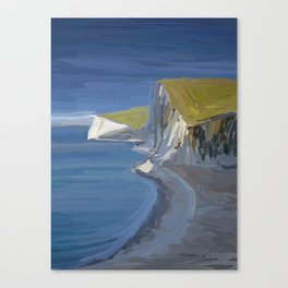 White Cliffs in Dorset UK Seascape Canvas Print