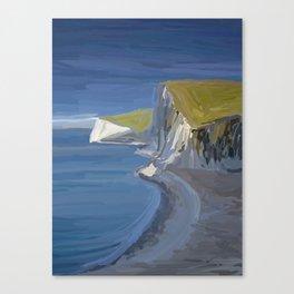 White Cliffs in Dorset UK Seascape Canvas Print
