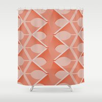 concrete Shower Curtains featuring Concrete Vertebrae by Peter Cassidy