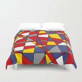 Red, Yellow & Blue Abstract Duvet Cover