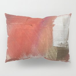 California Sun [2]: a minimal, abstract piece in reds and gold by Alyssa Hamilton Art Pillow Sham