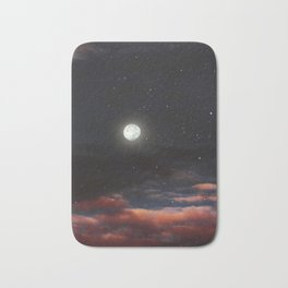 Dawn's moon Bath Mat