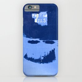 Street Art: Post No Bills, but smile while doing it iPhone Case
