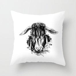 i'll cut off your horns Throw Pillow