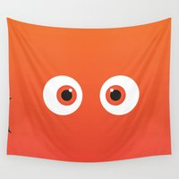 nemo Wall Tapestries featuring PIXAR CHARACTER POSTER - Nemo 2 - Finding Nemo by Marco Calignano