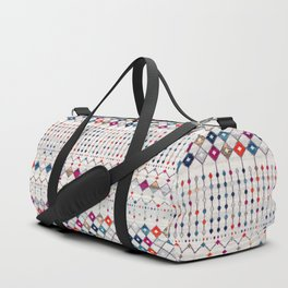 -A14- Lovely Colored Traditional Moroccan Texture Duffle Bag