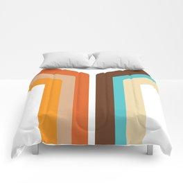 Geometric 70's Style Desig Comforters
