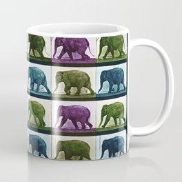 Time Lapse Motion Study Elephant Color Coffee Mug