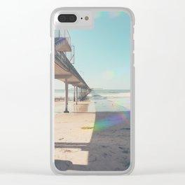 Scripps Pier Ocean Beach San Diego Clear iPhone Case