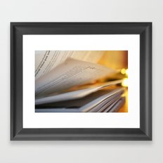 Pages in time Framed Art Print