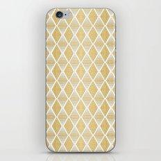 White and Gold Geometric Pattern iPhone & iPod Skin