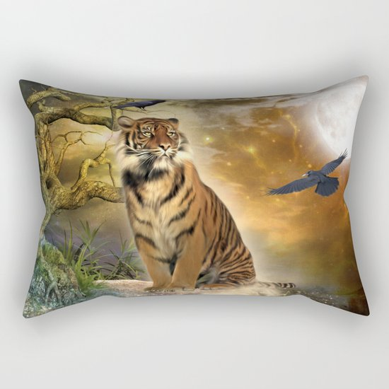 Wonderful tiger Rectangular Pillow