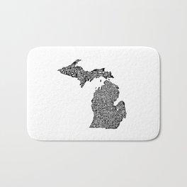 Typographic Michigan Bath Mat