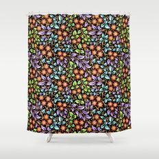Filigree Floral smaller scale Shower Curtain