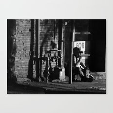 Homeless in Salem Canvas Print