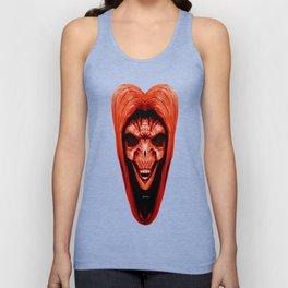 Red Haired Skull Unisex Tank Top
