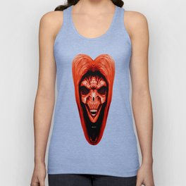 Red Haired Skull Unisex Tank Top